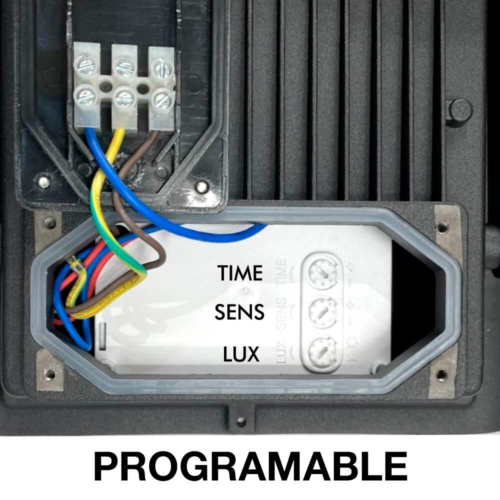 programacion foco proyector led 50w sensor movimiento kiolight